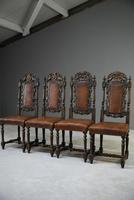 4 Carved Oak Dining Chairs (4 of 13)