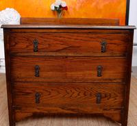 Oak Chest of Drawers Solid Wild Oak c.1920 (12 of 13)