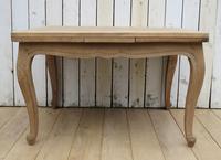 Bleached Oak Extending Draw Leaf Dining Table Desk (6 of 10)