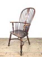Antique Ash & Elm Windsor Armchair (7 of 11)