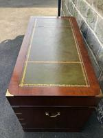 Brass Bound Mahogany Military Pedestal Desk (3 of 14)