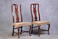 Pair Of Early 18th Century Walnut Side Chairs (2 of 8)