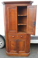 1850's Oak Corner Cupboard with Double Doors and Drawer (5 of 5)