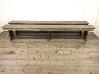 Pair of Antique Oak Refectory Benches (2 of 12)