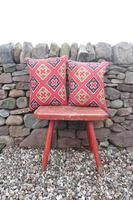 Early 20th Century, Antique Swedish Woven Textile, Geometric Patterned 're-stuffed cushions' (16 of 20)