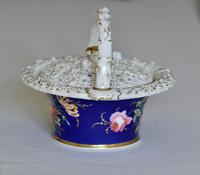 Early 19th Century Chamberlain's Pot Pourri Floral Basket & Cover (2 of 9)