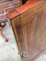 Edwardian Mahogany Wood Inlaid Bedside Cabinet (7 of 7)