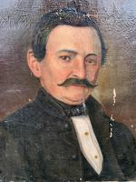 19th C French Portrait On Canvas (5 of 5)