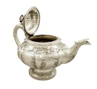 Antique Victorian Sterling Silver Teapot 1844 (3 of 11)