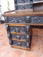 Country Oak Lions Head Pedestal Desk 1850 W M Richardson Ltd (3 of 12)