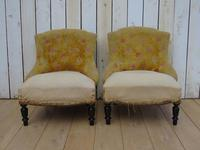 Pair of French Boudior Tub Armchairs for re-upholstery (2 of 8)