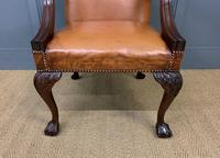 Leather Upholstered Gainsborough Armchair (11 of 12)
