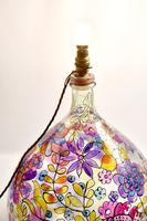 1960s Hand Painted Demi John Lamp with Floral Pattern (20 of 22)