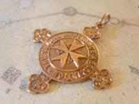 Victorian Pocket Watch Chain Fob 1890s 10ct Rose Gold Filled The St John Ambulance Fob (7 of 7)