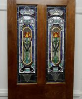 Victorian Art Nouveau Stained Glass Panel Door (6 of 9)