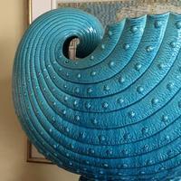 Burmantofts Faience Turquoise Glazed Shell Jardiniere (3 of 12)
