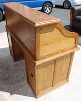1960s Golden Oak Stype Rolltop Desk - Well Fitted (5 of 5)
