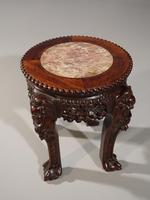 Good Pair of Late 19th Century Oriental Teak Stands (6 of 7)