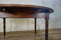 19th Century French Chestnut Circular Drop Leaf Table (3 of 10)