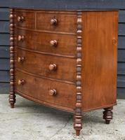 Fine Quality, Georgian Mahogany Bow Fronted Chest of Drawers (14 of 16)