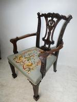 Carved Chippendale Revival Armchair (8 of 10)