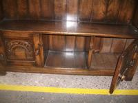 Solid Oak Open Bookcase with Lower Cupboards (3 of 4)