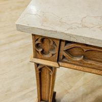 Gothic Oak Console Table (2 of 7)