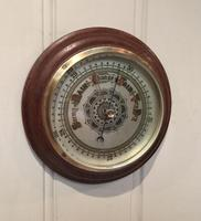 Edwardian Oak Aneroid Barometer c.1901 (6 of 8)