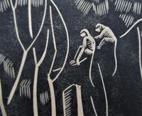 Mary Dudley Short (Molly Freeman), linocut print, Seated Buddha, 4/25, c1935 (6 of 6)