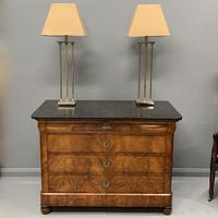 Figured Walnut and Marble Top Commode (13 of 13)