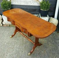 Antique Design Walnut Serpentine Front Desk (5 of 7)
