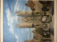"""Fine Oil Painting Architectural Entrance """"Micklegate Bar"""" York Signed F Chilton (30 of 31)"""