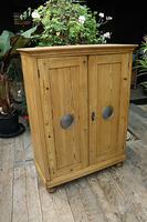 Lovely Old Stripped Pine Food Cupboard / Linen / Larder / Storage  - We Deliver! (3 of 9)
