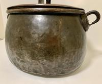 Large Antique Copper Cauldron with Lid (8 of 16)