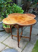Exceptional 19th Century Marquetry Drop-leaf Centre Table (3 of 9)