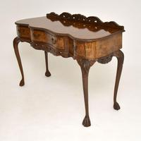 Queen Anne Style Burr Walnut Server Table c.1930 (2 of 12)