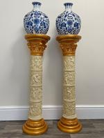 Dutch Golden Age Style Gilt Harvest Relief Plinth Display Torcheres (2 of 87)