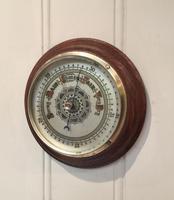 Edwardian Oak Aneroid Barometer c.1901 (2 of 8)