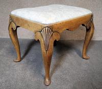 Queen Anne Style Walnut Stool c.1920 (2 of 10)