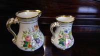 Pair of Coalport Botanical Porcelain Jugs (2 of 4)