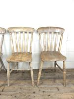 Set of Four Antique Farmhouse Kitchen Chairs (4 of 15)