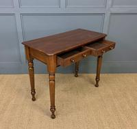 Victorian Mahogany 2 Drawer Side Table (5 of 12)