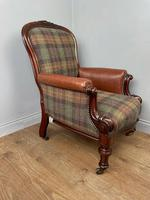 Unique Victorian Mahogany Library Arm Chair (2 of 7)