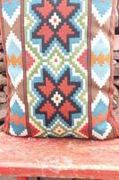 Swedish 'Folk Art' Vintage Large Woven Röllakan Cushion c.1930 (11 of 26)