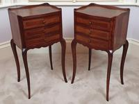 Early 20th Century Pair of Inlaid Kingwood Bedside Cabinets (2 of 5)