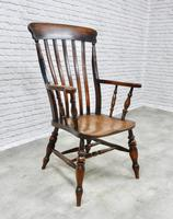 Large Windsor Lathback Armchair c.1890 (3 of 8)