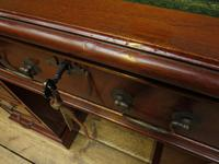 Small Antique Reproduction Pedestal Desk with Leather top, Brights of Nettlebed (9 of 10)
