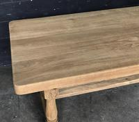 Bleached Oak Wide Farmhouse Dining Table (9 of 15)