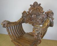 Outstanding Italian Walnut Savonarola Chair (11 of 12)