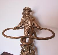 Unusual Nautical Brass Stick or Umbrella Stand  in shape of Sailor (2 of 6)